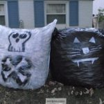 Black Cat Halloween Leaf Bags