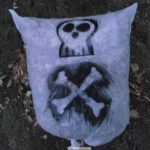 Skull Halloween Leaf Bag