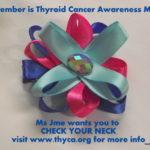 Thyroid Cancer Awareness Hair Clip
