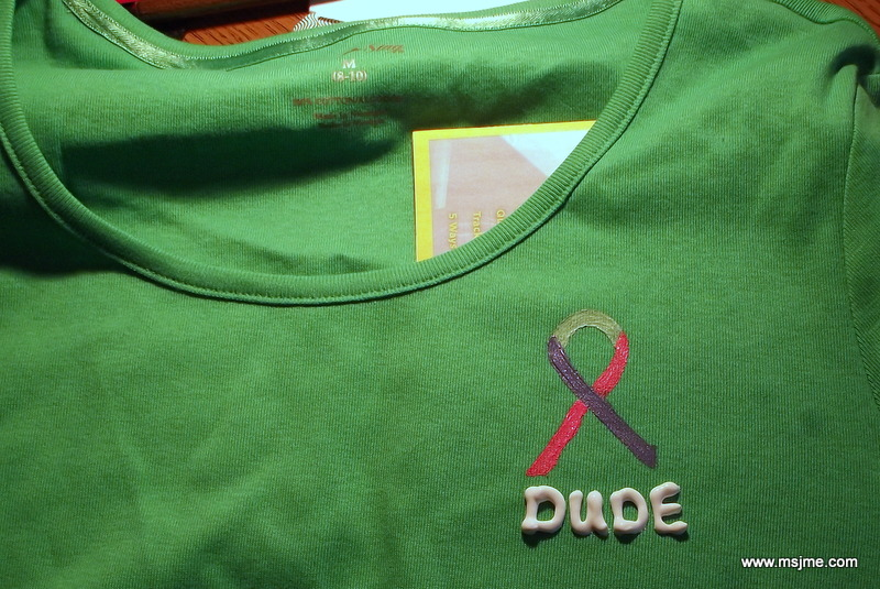 """I painted this shirt for my friend who is also a Thyroid Cancer survivor like me. """"Dude, where's my thyroid?"""""""