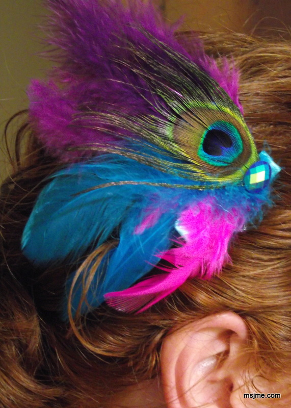 September is Thyroid Cancer Awareness Month.  Check out my latest Peacock Feather Hair Clip Design with the ThyCa ribbon colors