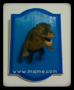 Dino Toy Trophy Plaque
