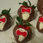 I love Doctor Who. I love chocolate treats. This combo was bound to happen! A friend requested some dipped strawberries and I had some bowtie cupcake decorations leftover, so voila! These are ALMOST too cute to eat. My dipping chocolate is a mix of white, dark chocolate chips and chocolate bark.