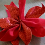 Poinsettia Flower Hair Clip